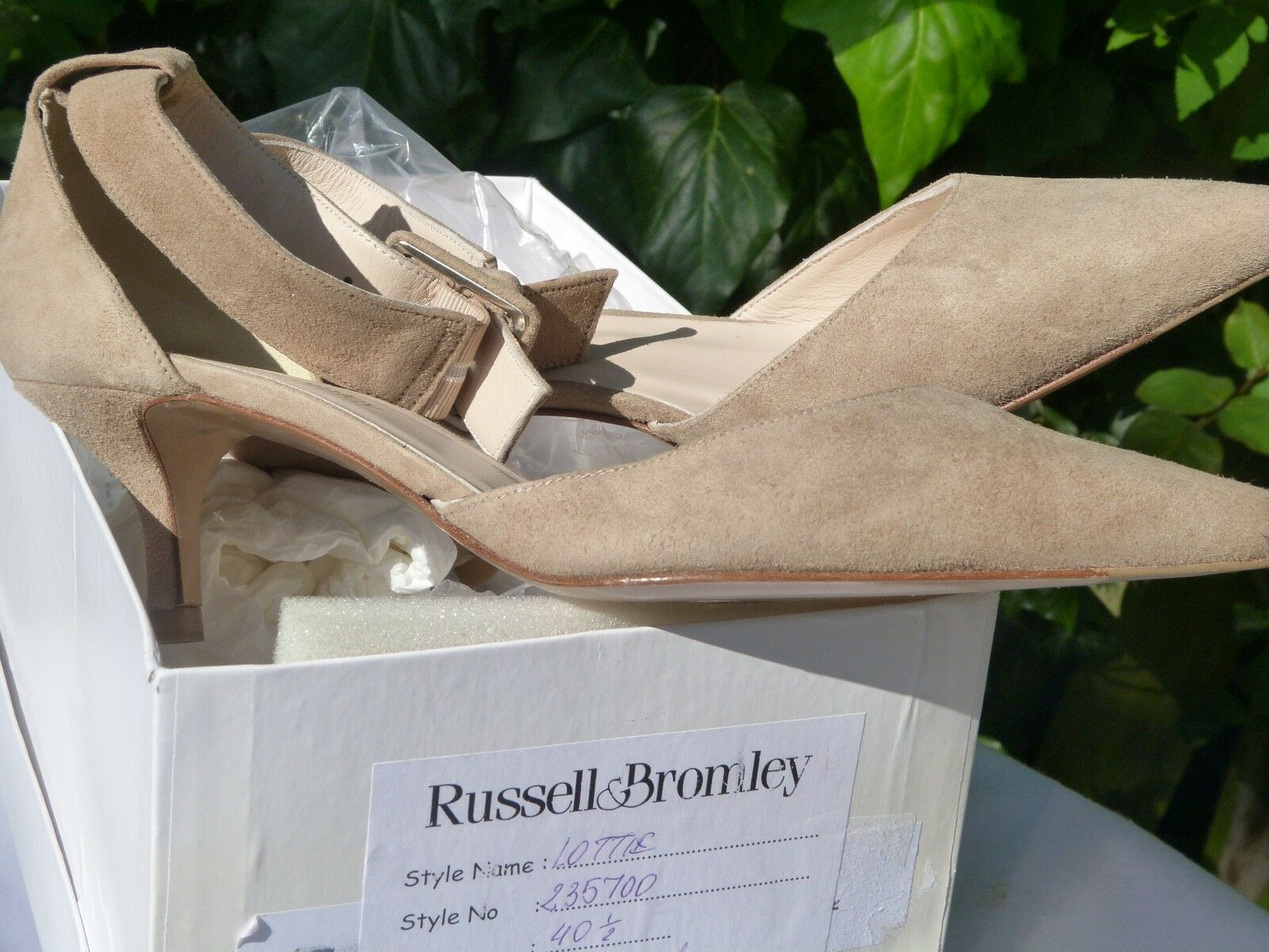 RussellBromley women's shoes size 4.5 40.5 taupe sapatos femininos wedding