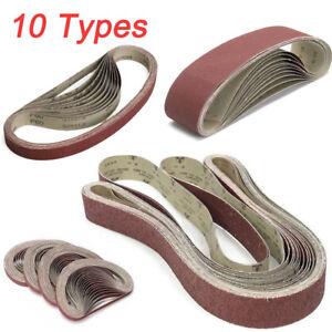 10-Type-Sanding-Belt-36-1000-Grit-Abrasive-Belts-Metal-Wood-Polishing-Tool