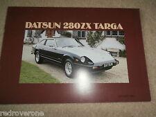Nissan DATSUN 280 zx targa 1982  Sales Brochure. Collectors condition. nr MINT