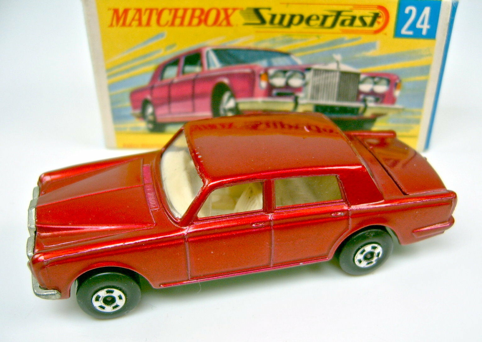 MATCHBOX SF nº 24 a ROLLS ROYCE rougemetallic BPL. est vertmetallic Dans Box