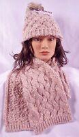 Ladies Bongo Hat & Scarf Set Muted Pink Great Gift Idea