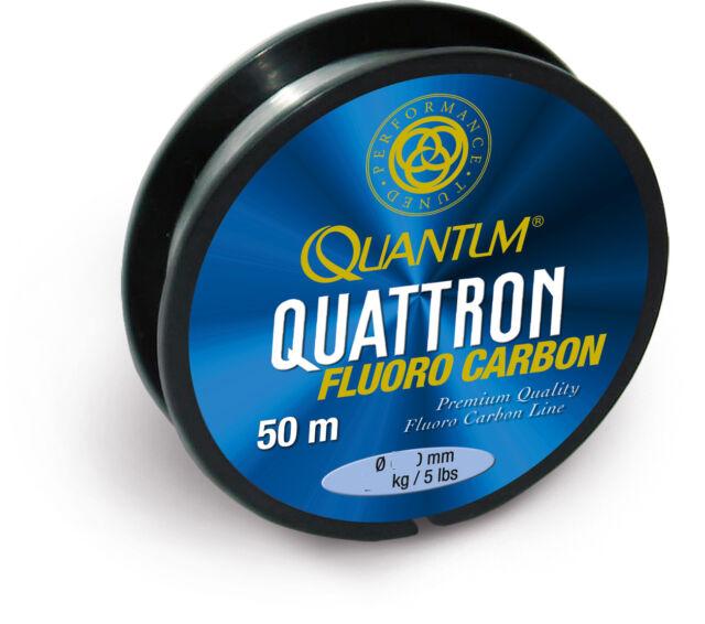 50 m Fluoro Carbon 100/% Fluorocarbon Angelschnur: Vorfach-Schnur,Quattron FC