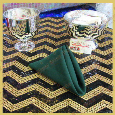 100 pcs 18X18 Polyester Napkins Wedding Party Table Decorations Supply Hunter Green 532