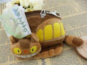 My Neighbor Totoro Ghibli Plush Cat Bus Purse Wallet Cute