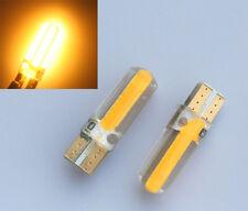 2 X Super Bright T10 194 168 W5W COB 20 SMD SILICA LED Light Bulbs Amber Yellow