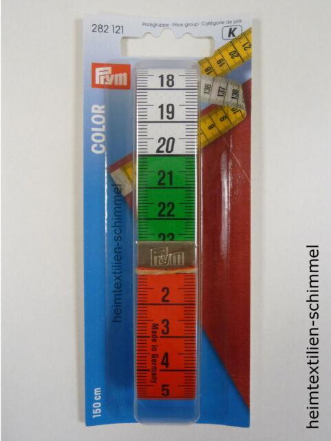 Prym Maßband Bandmaß Color  mit cm Skala Schneidermaßband bunt 282121