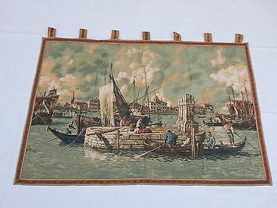 Linens & Textiles (pre-1930) Tapestries Vintage French Beautiful Ship Tapestry 81x122cm T800 Making Things Convenient For Customers