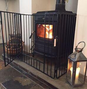 nursery stove fire guard black safety fireplace child kid inc free