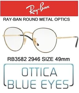 be905e910cc9 Occhiali da Vista RX RAYBAN ROUND METAL OPTICS RB 3582 2946 49mm Ray ...