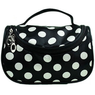 Double Layer Portable Cosmetic Case Fashion Women Beauty Makeup Hand Case Bag