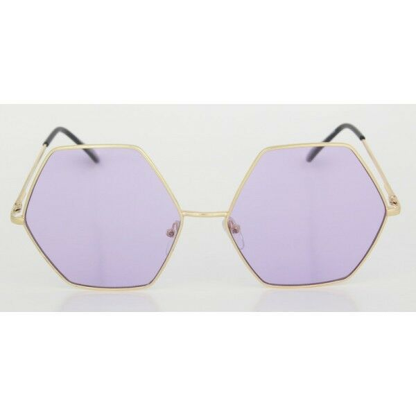 7d5b2485c29 Hover to zoom · CLASSIC VINTAGE RETRO Style SUN GLASSES Unique Gold Hexagon  Frame ...