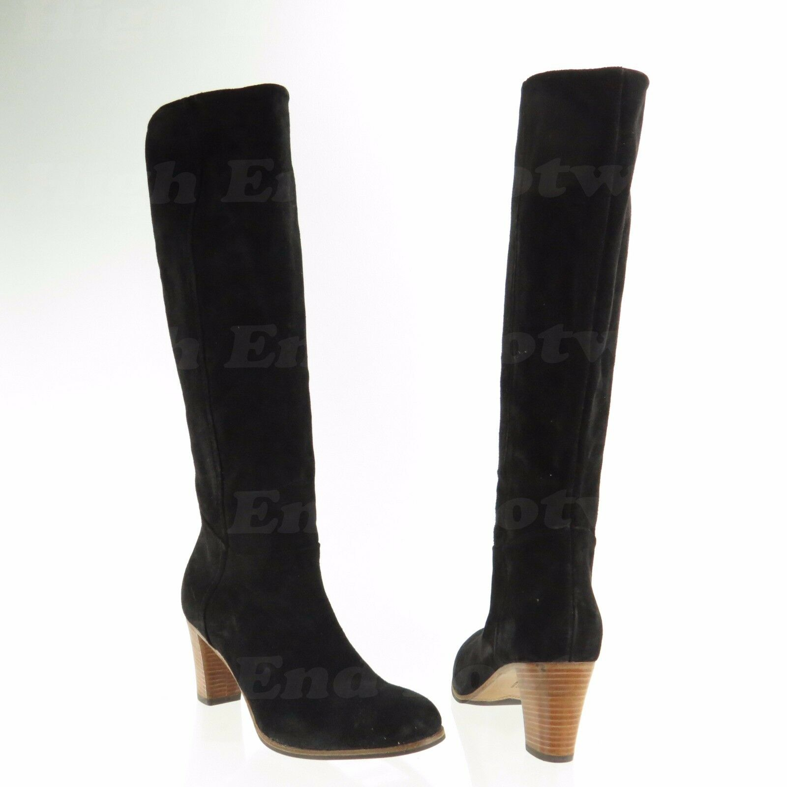 Alberto Fermani Savona Womens Shoes Black Suede Knee High Boots Sz 38.5 NEW $575