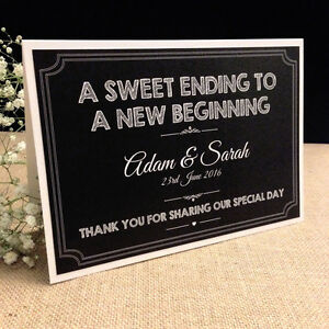 Image Is Loading Personalised Chalkboard Style Vintage Wedding Sweet Table Candy