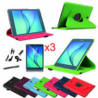 For Samsung Galaxy Tab A 8-inch Tablet Rotating Stand Case Smart Cover Bundle