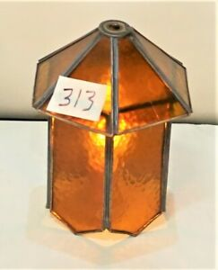 Antique-Mission-Arts-amp-Crafts-Style-Slag-Glass-Shade