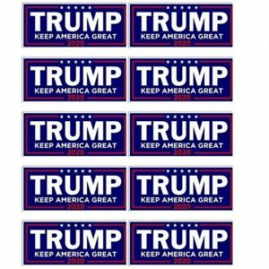 10PCS-Donald-Trump-For-President-2020-Bumper-Sticker-Keep-America-Great-US-KY