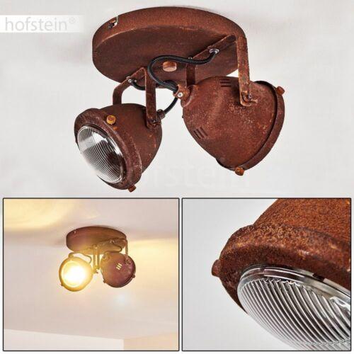 Flur Strahler Vintage Decken Lampen Rost Wohn Schlaf Zimmer Leuchten 2-flammig
