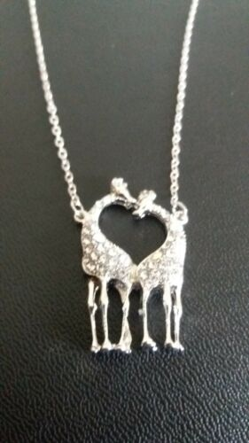 Silver Colour Love Heart Initial 26 Letters Chain Necklace Women Free Bag UK