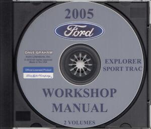 2005 Ford Explorer Sport Trac Shop Manuel Sur Cd-rom 2 Volume Atelier Un Style Actuel