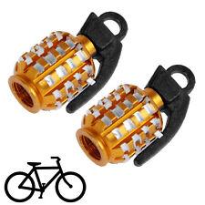 4 Stück goldene Granate Handgranate Ventilkappen für Autos PKW LKW Motorrad NEU