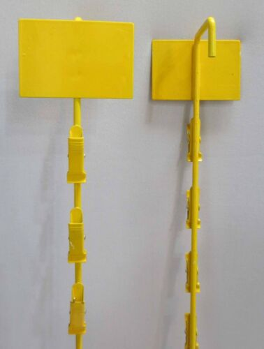 Yellow Metal 12 Clip On Display Potato Chip 7 pc or other items Rack
