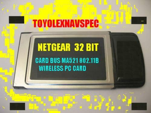Netgear MA521 32bit Wireless PC Card 802.11b