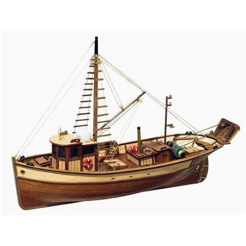 Occre Palamos Fishing Boat 1 45 Scale Model Boat Display Kit 12000