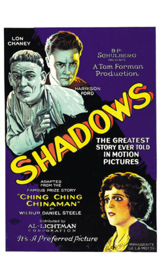 Shadows Lon Chaney vintage movie poster print