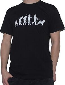 NEW-ROTTWEILER-T-SHIRT-Ape-To-Dog-Owner-Walking-Evolution-Of-Man