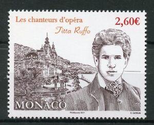 Monaco-2017-MNH-Titta-Ruffo-Opera-Singers-1v-Set-Music-Stamps
