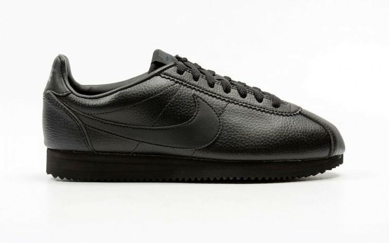 shoesnike 749571 002 Classic Cortez Leather Black Black-Anthracite Fashion Man