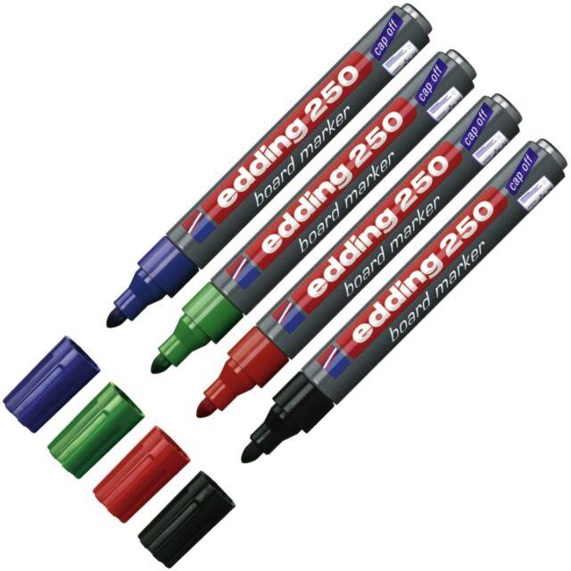 EDDING 250 whiteboard marker 4 Farben frei wählbar