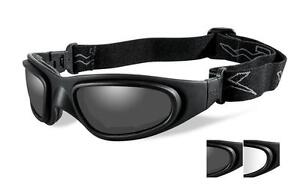 efe8f0532cc Wiley X SG-1 Smoke Grey Clear Matte Black Goggles - 71 for sale ...