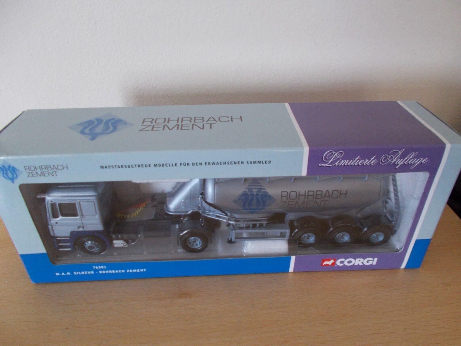 Corgi 76301 MAN Silozug Tanker  ROHRBACH ZEMENT  1 50 Boxed