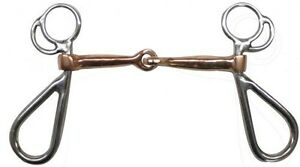 """Showman Stainless Steel Snaffle Bit w/ 5"""" Copper Mouth!! NEW HORSE TACK!!"""
