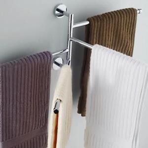 Bathroom-Towel-Rack-Hanging-Storage-Holder-Shower-Organizer-Swivel-Rail-Shelf