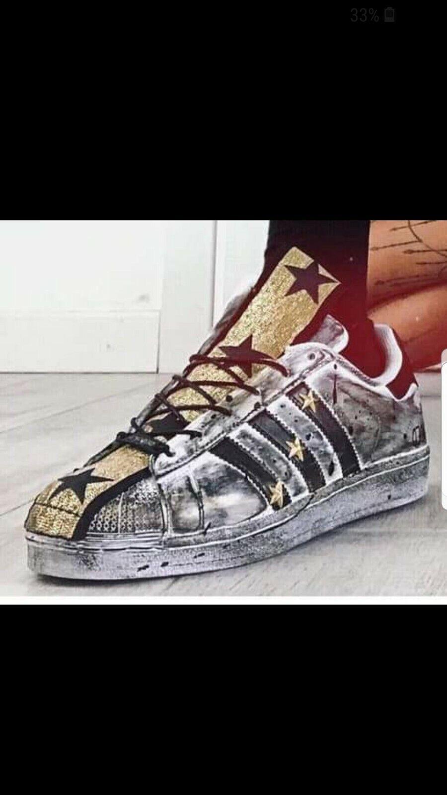 Schuhe Adidas Superstar mit Lasche mit Glitzer Bunt und Sporcatura
