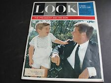 """LOOK"" MAGAZINE- DECEMBER 3, 1963 JOHN F. KENNEDY THE PRESIDENT AND HIS SON."
