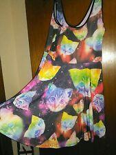 galaxy cat print skater dress size XL NWT hot topic