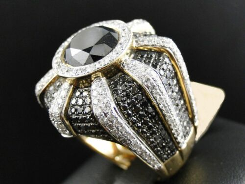 4.00 Carat Men's Yellow Gold Over Diamond Engagement Wedding Pinky Band Ring