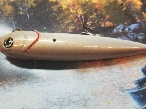 CUSTOM PAINTED BIGBASS  REACTION INNOVATION VIXEN TOPWATER FISHING LURE GOLD FS
