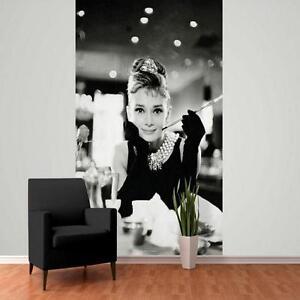 1 wand gro e tapete audrey hepburn fr hst ck bei tiffany wandsticker m ebay. Black Bedroom Furniture Sets. Home Design Ideas