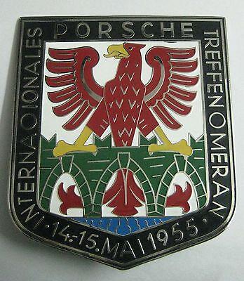 Car Badges Automobilia Nice Porsche Internationale Treffen 1955 Car Grill Badge Emblem Logos Metal Enamled C Reputation First