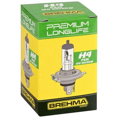 BREHMA Premium H4 Longlife 60//55W 12V Autolampen Birnen