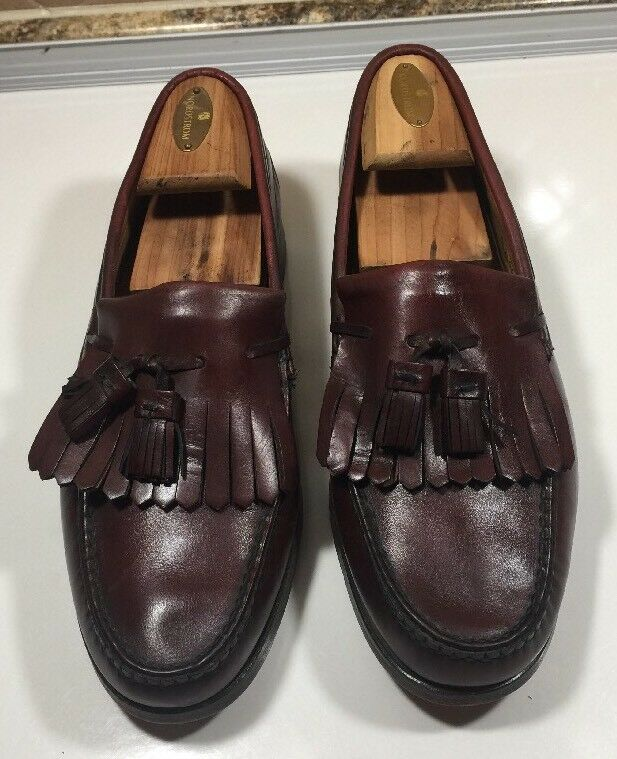 281-Brooks Brothers braun Farbe Leather Tassel Kilted Kilted Kilted Men's Größe 11 D  EUC  4390d9