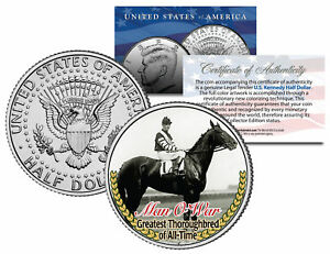 MAN-O-WAR-Greatest-Thoroughbred-of-All-Time-Racehorse-JFK-Half-Dollar-Coin