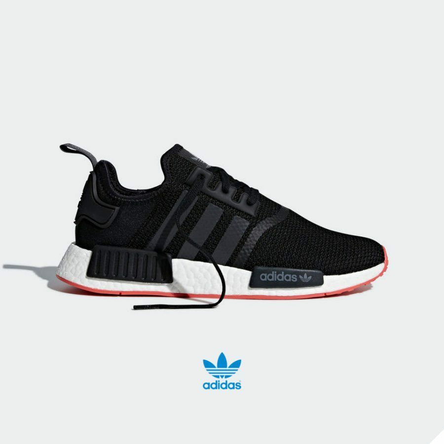 Adidas Originals NMD R1 Shoes CQ2413 Athletic Running Black Pink White SZ 4-12