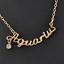 star sign necklace pendant zodiac charm gold coloured rhinestone charming chain