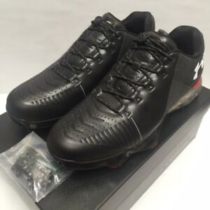 9bc4f2777fc05c UA Under Armour Spieth 2 Golf Shoes Gore-Tex Water Proof Black Red ...