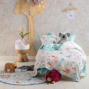 Hiccups Aussie Friends Duvet Doona Quilt Cover Set Single and Double Bed Sizes